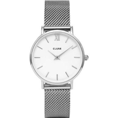 Cluse Watch CL30009 Minuit Small Face Silver Mesh