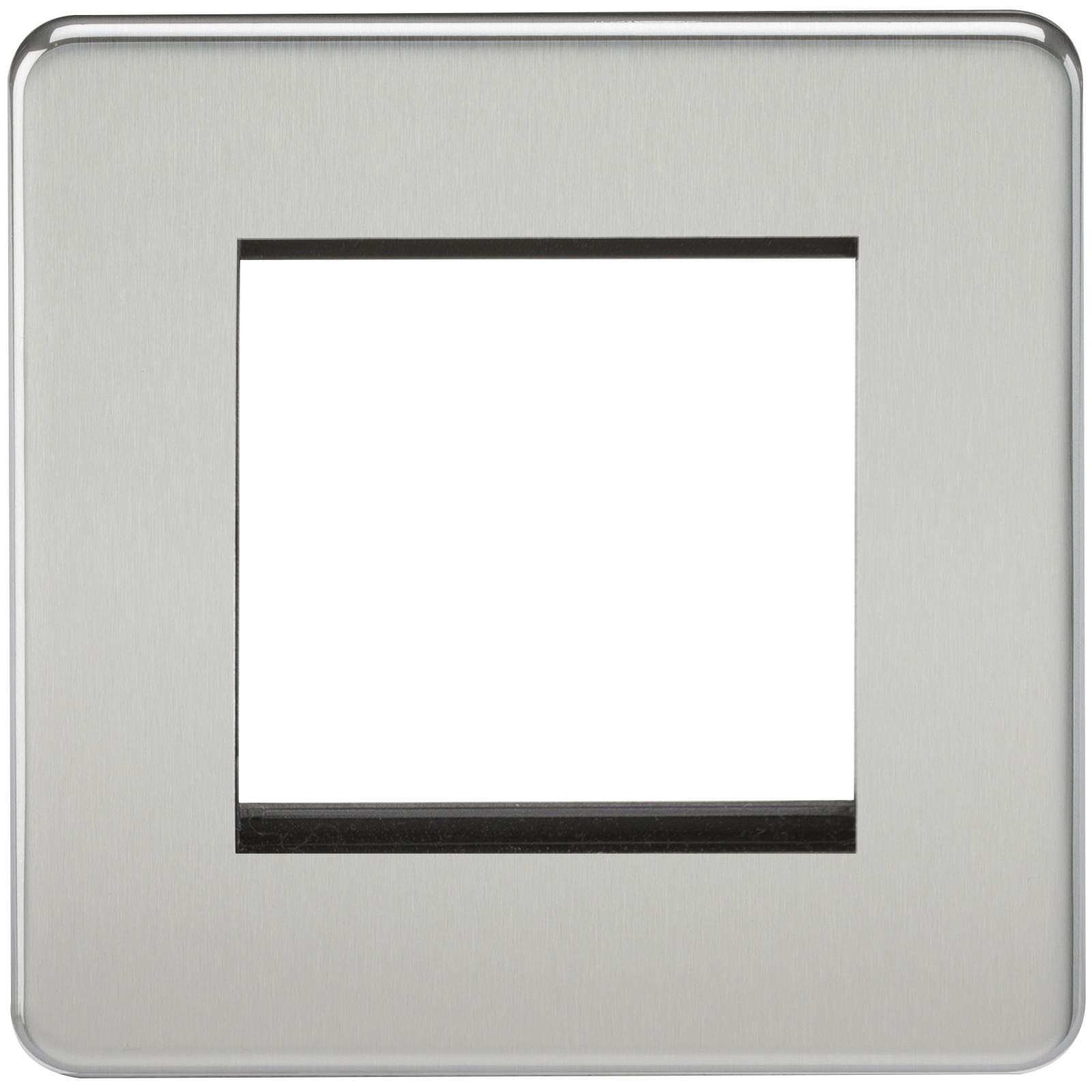 SCREWLESS 2G MODULAR FACEPLATE - POLISHED CHROME
