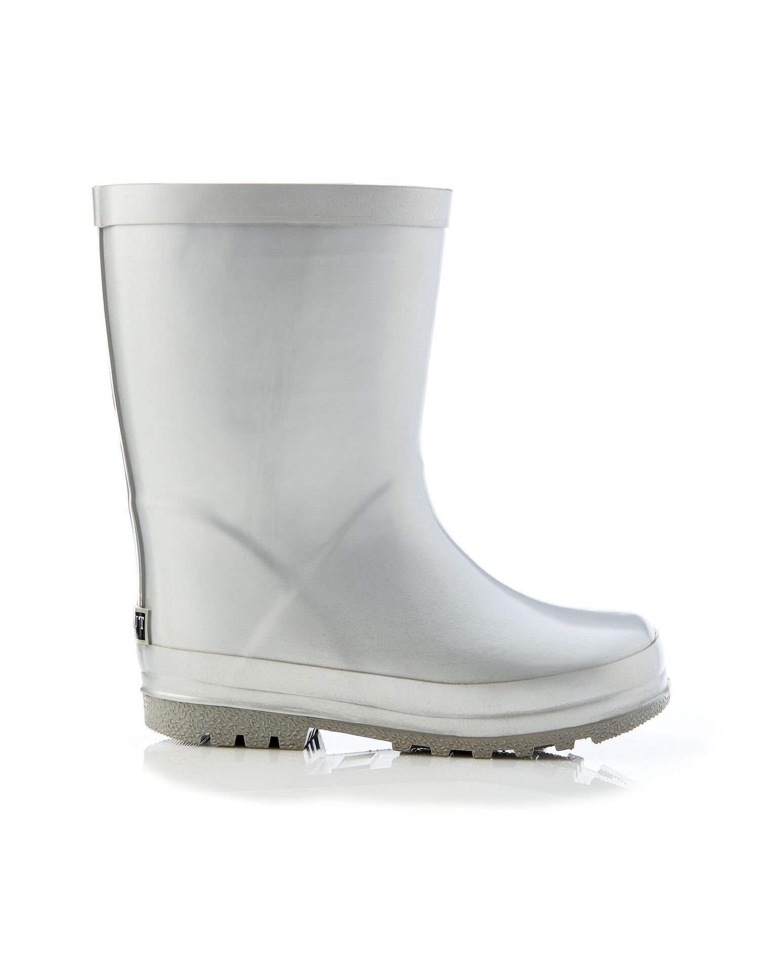 Walnut Astrid Metallic Gumboot - Silver