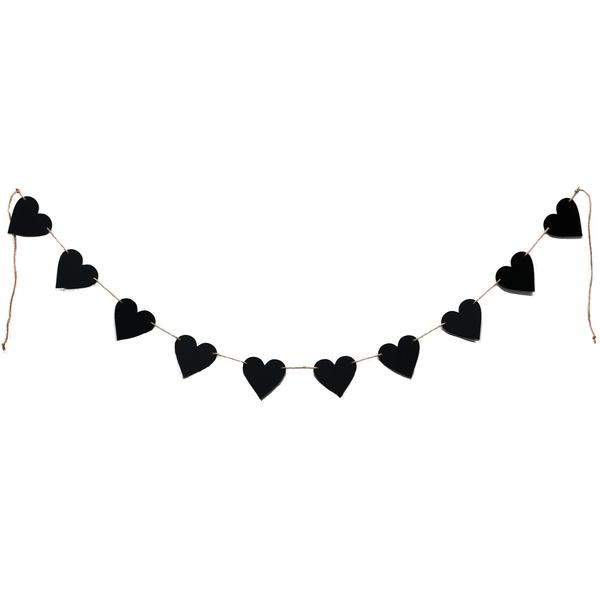 D&Y HEART BLACKBOARD BUNTING