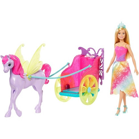 BARBIE WITH FANTASY HORSE & CHARIOT