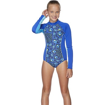 Girls Paddle Peacock Paisley Paddle Suit
