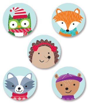 CTP 7139 WINTER WOODLAND FRIENDS HOT SPOT STICKERS