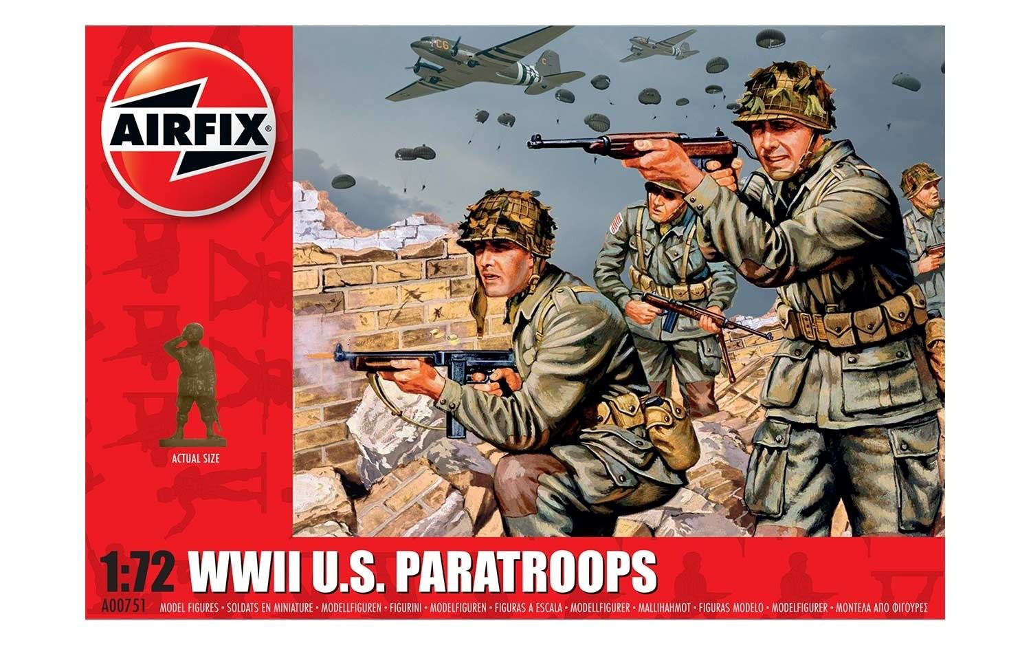Airfix #A00751 1/72 WWII U.S Paratroopers