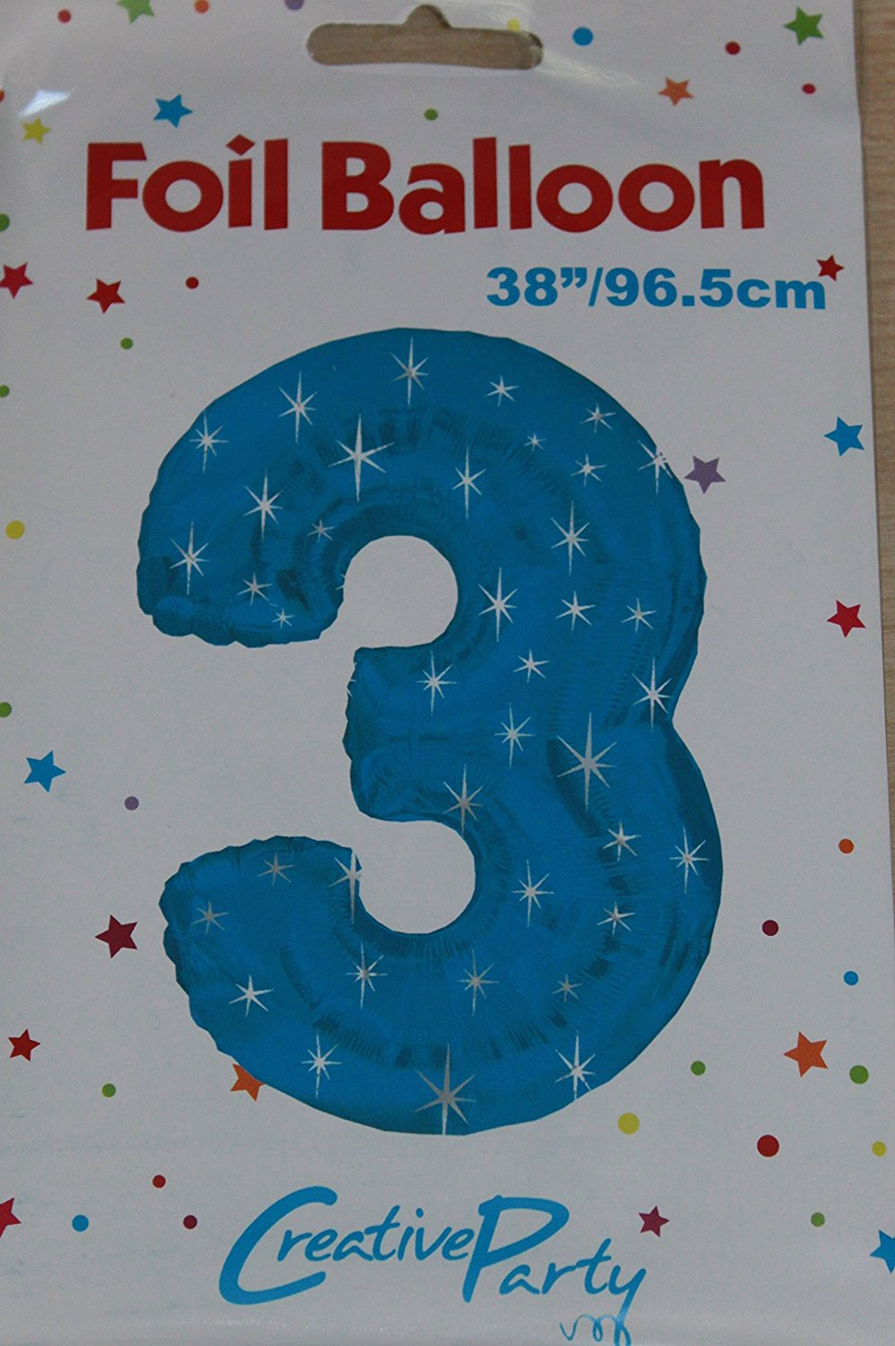 NUMBER 3 BLUE 43 INCH FOIL BALLOON