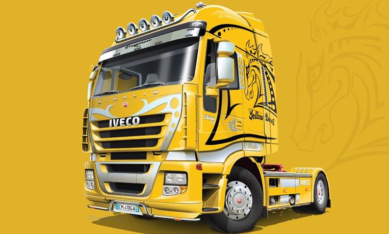 Italeri #3898 1/24 Iveco Stralis ( Yellow Devil )