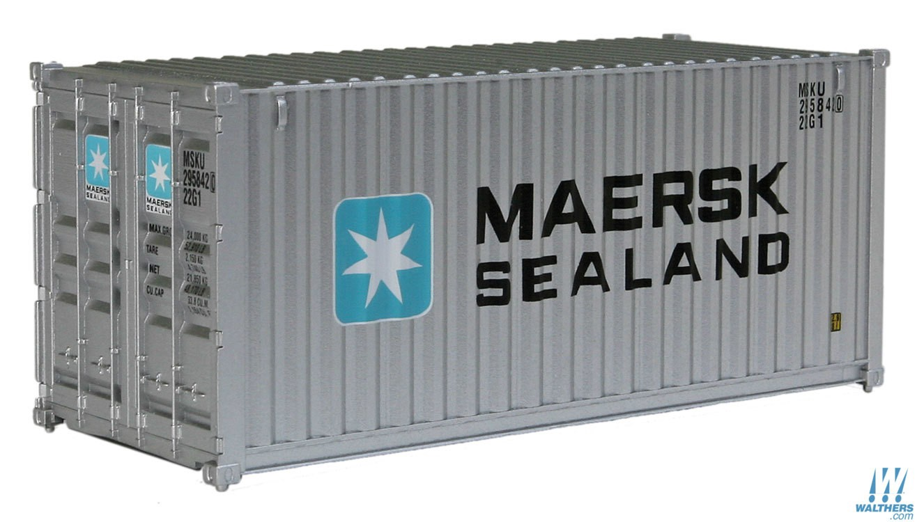 Walthers SceneMaster #949-8051  HO 20' Fully Corrugated Container