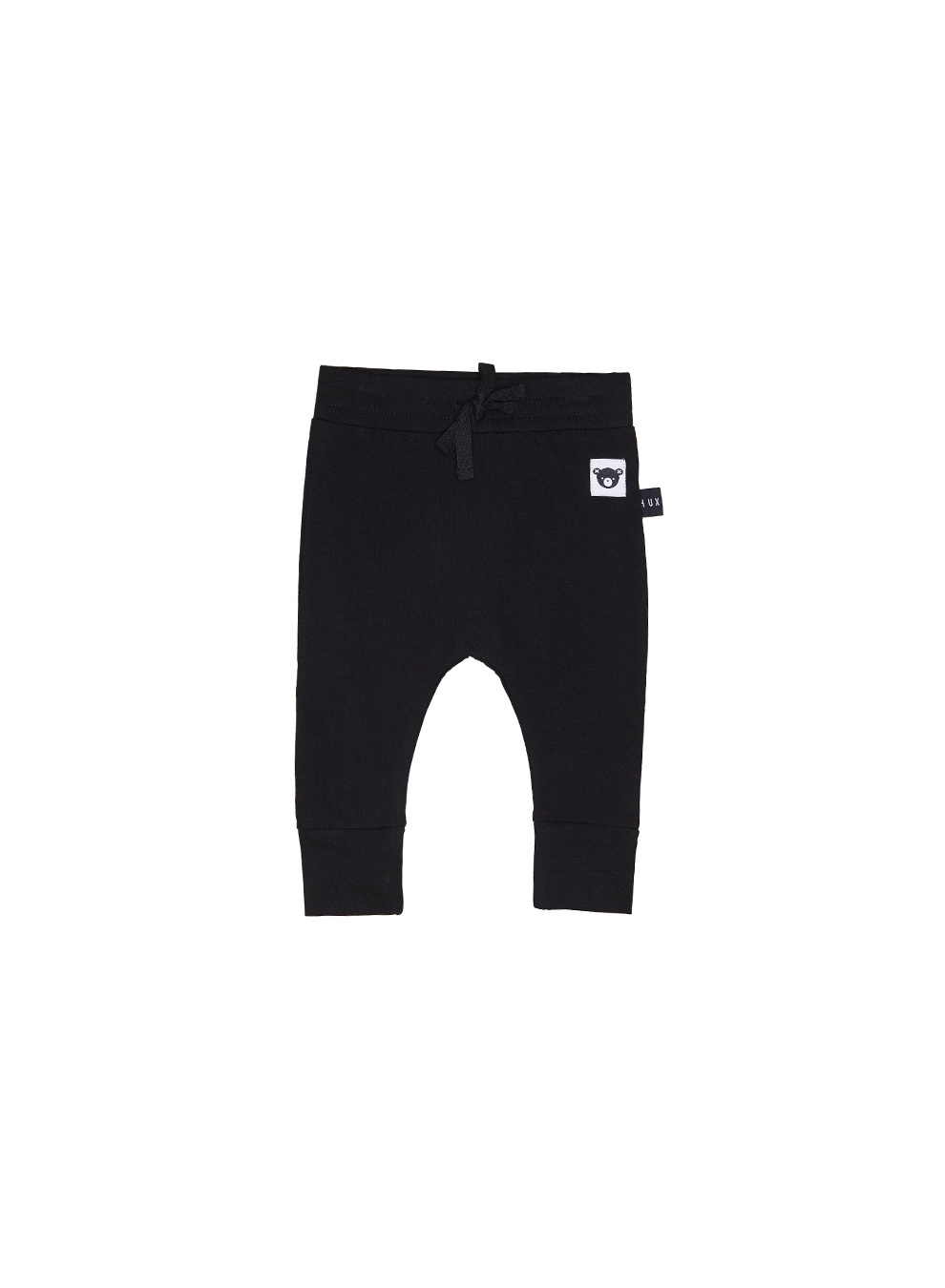 BLACK DROP CROTCH FLEECE PANT KIDS