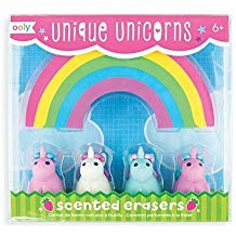 UNIQUE UNICORNS SCENTED ERASERS SET