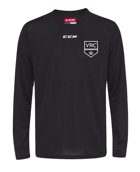 CCM Long Sleeve Tech Top-VRC Shield Logo