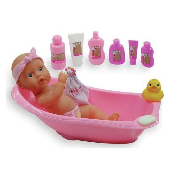 DOLL'S WORLD BATHTIME SET
