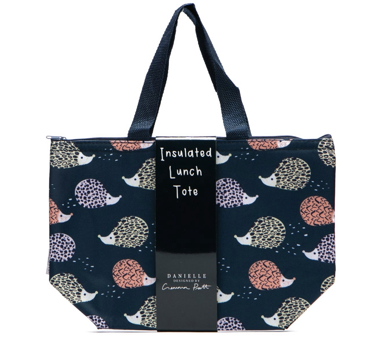 Hedgehog insulated lunch tote