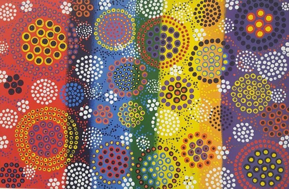3D dot painting:My garden