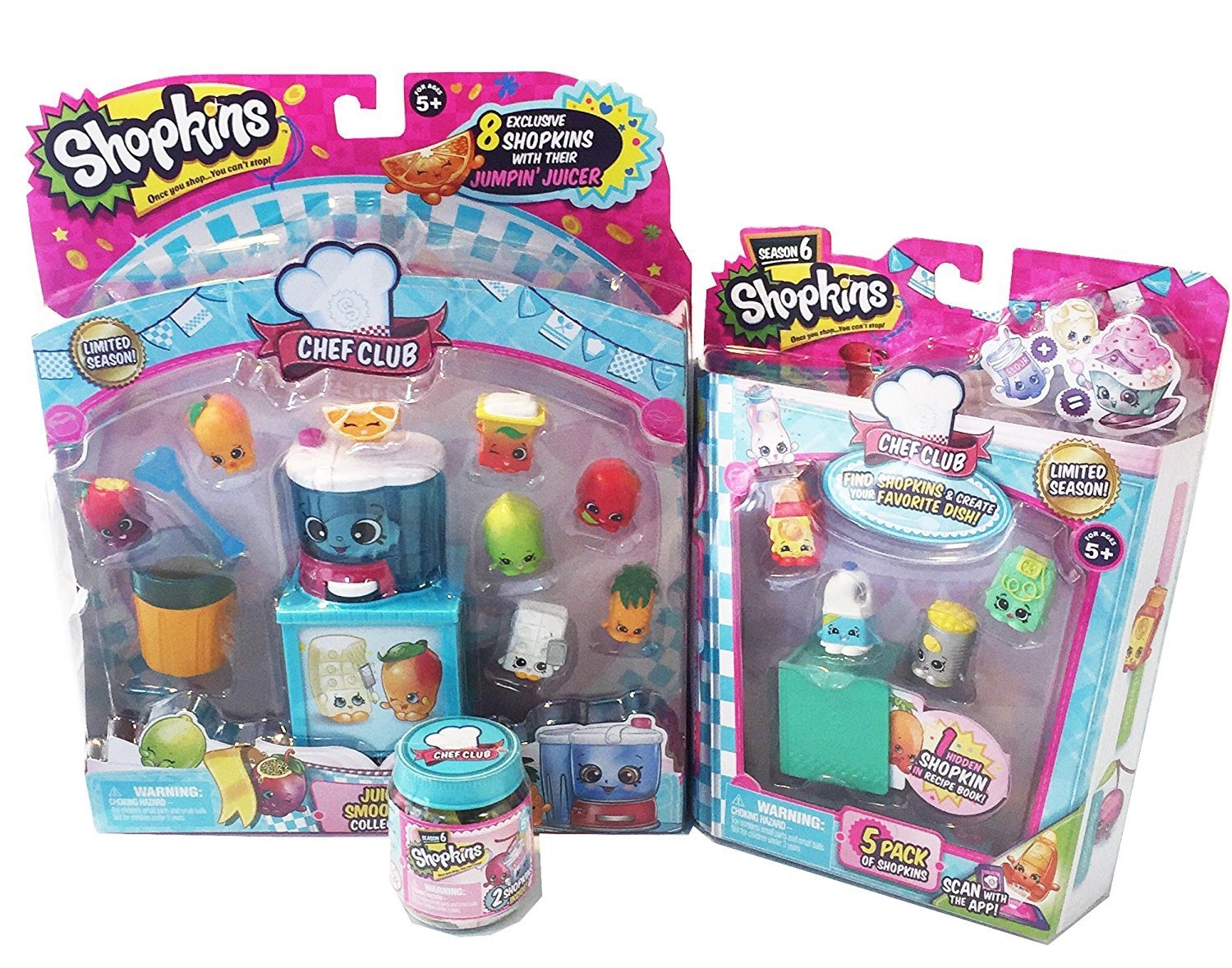 SHOPKINS JUICY SMOOTHIE COLLECTION PLUS 5 PACK