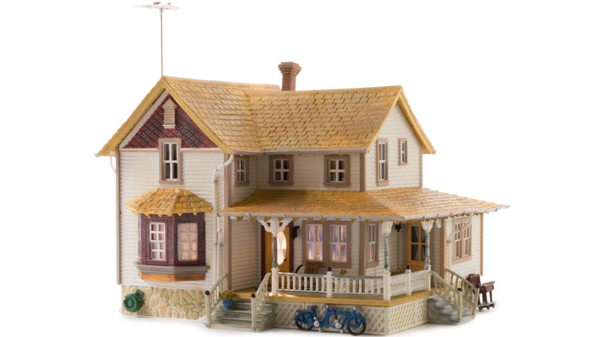 Landmark Structures #BR5046 Corner Porch House W/Leds
