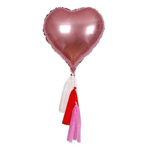 Pink Heart Foil Balloons