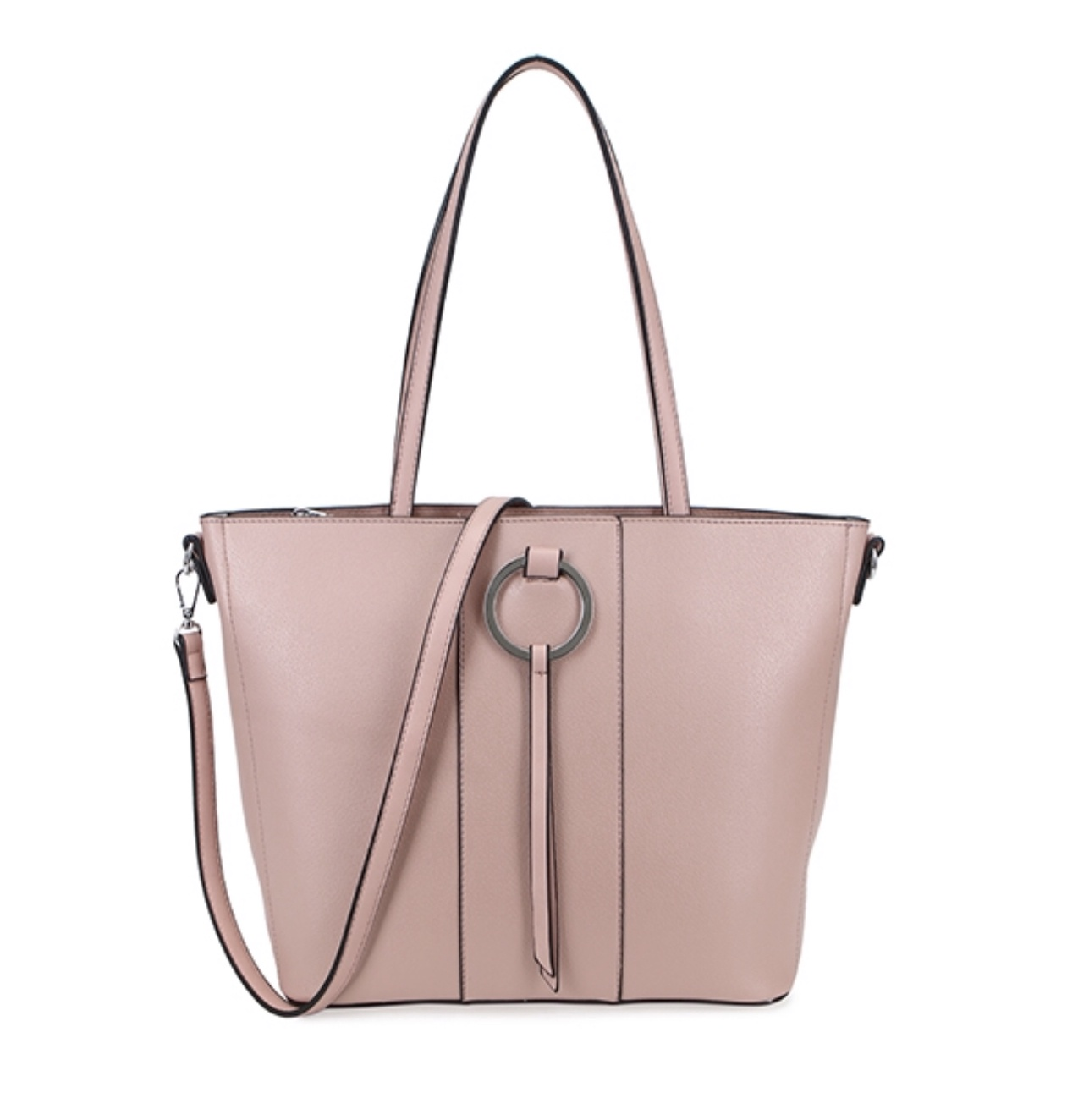 Annette Ring Front Tote (Pink)