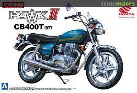 Aoshima #5332  1/12 1977 Honda Hawk II CB400T