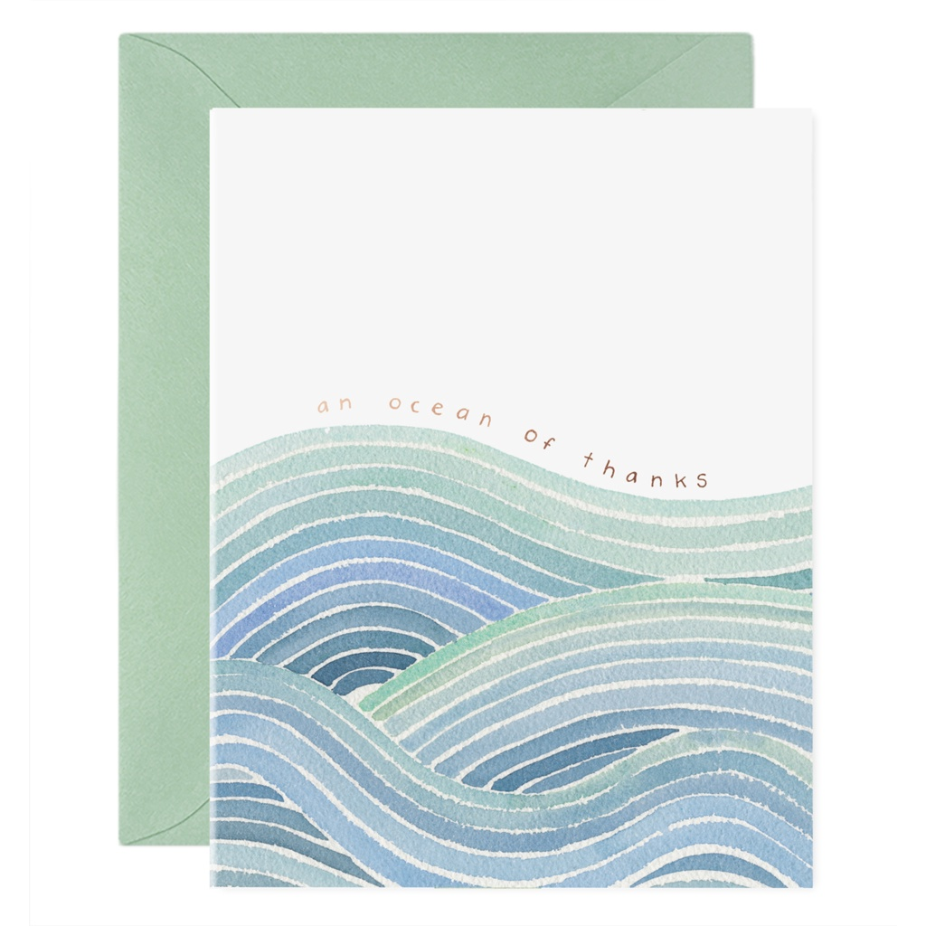 Ocean of Thanks Card