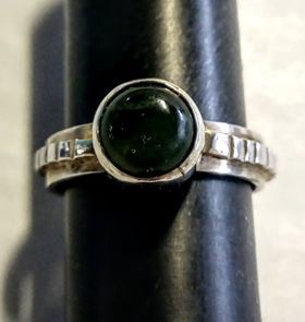 Ring Stirling Silver & Pounamu