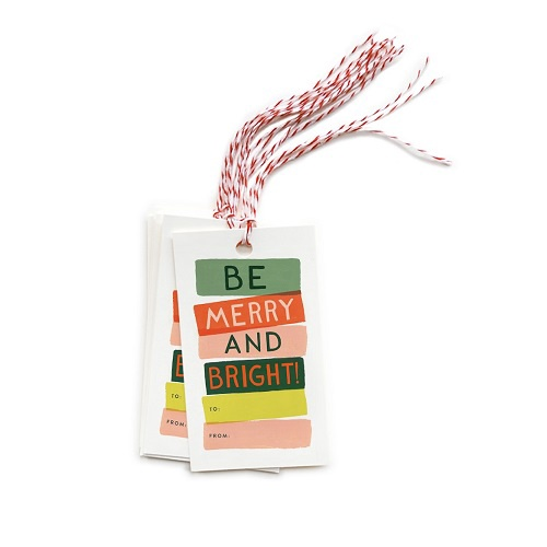 Be Merry & Bright Gift Tags | Pack of 10