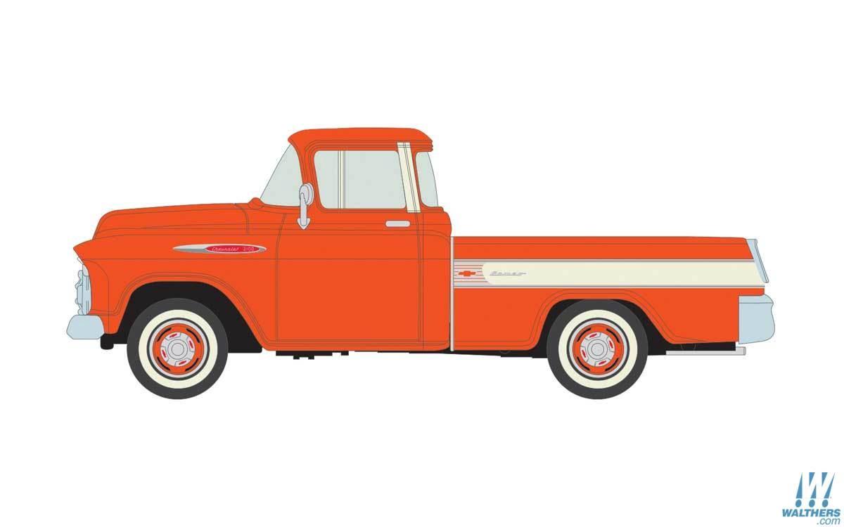 Mini Metals #221-30572 1957 Chevy Cameo-Omaha Orange