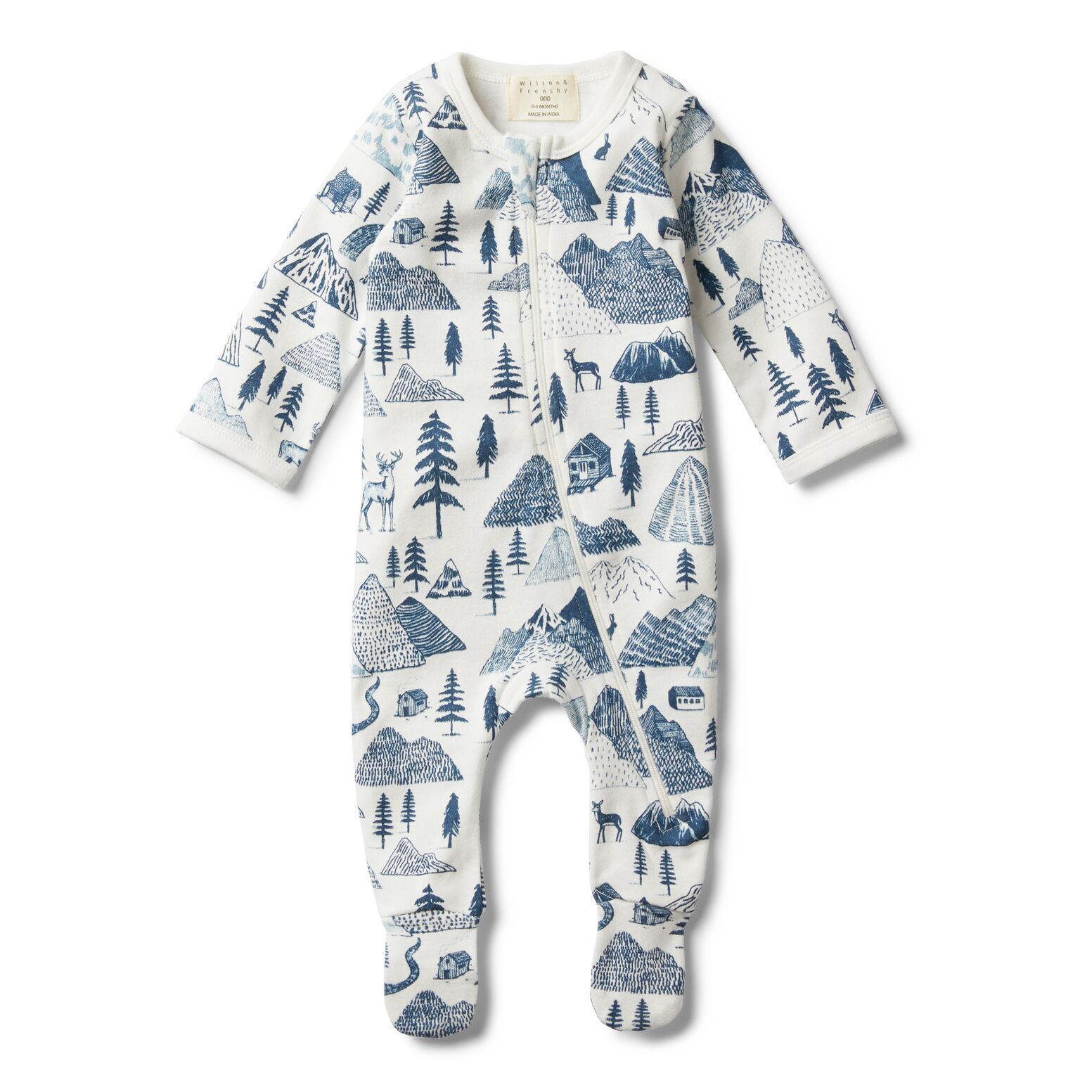 WF The hills zip suit with feet