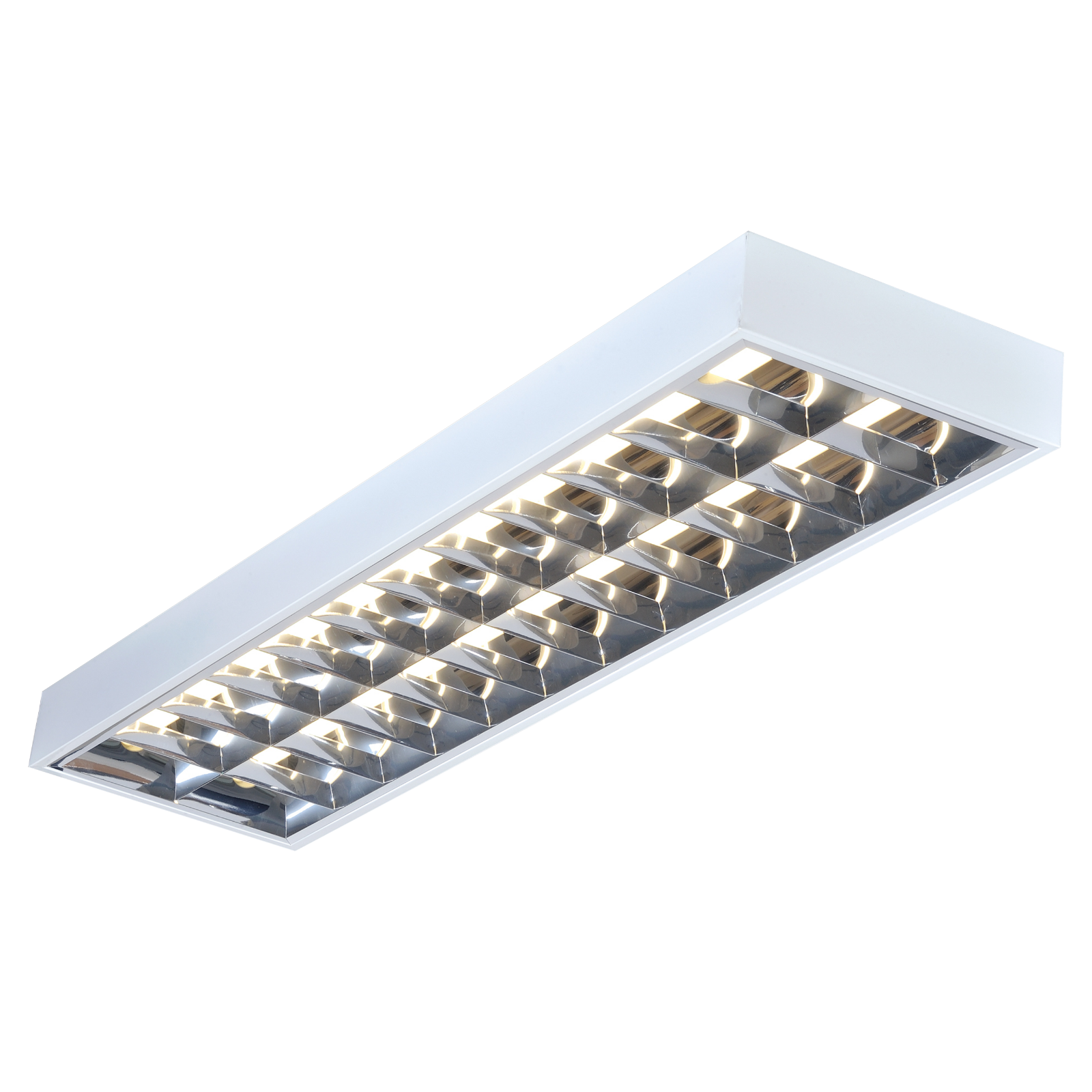 IP20 2x36W 4ft T8 Surface Mounted Emergency Fluorescent Fitting 1220x304x80mm