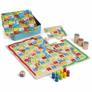 WOODNE SNAKES AND LADDERS AND TIC TAC TOE