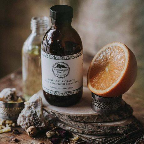 Dartmoor Rosemary & Orange Nourishing Bath & Body Oil 250g