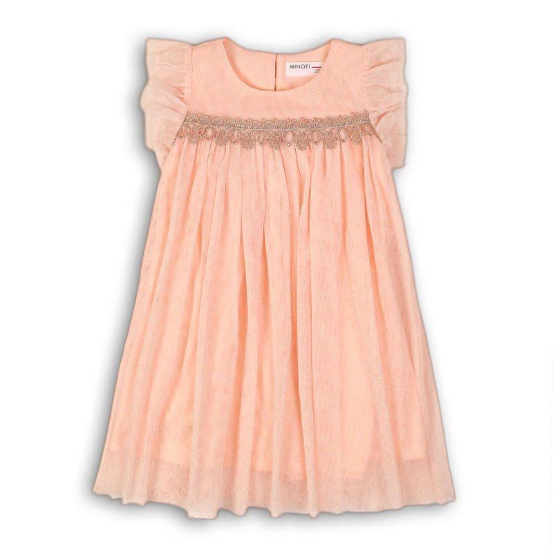 Glitter mesh layered dress