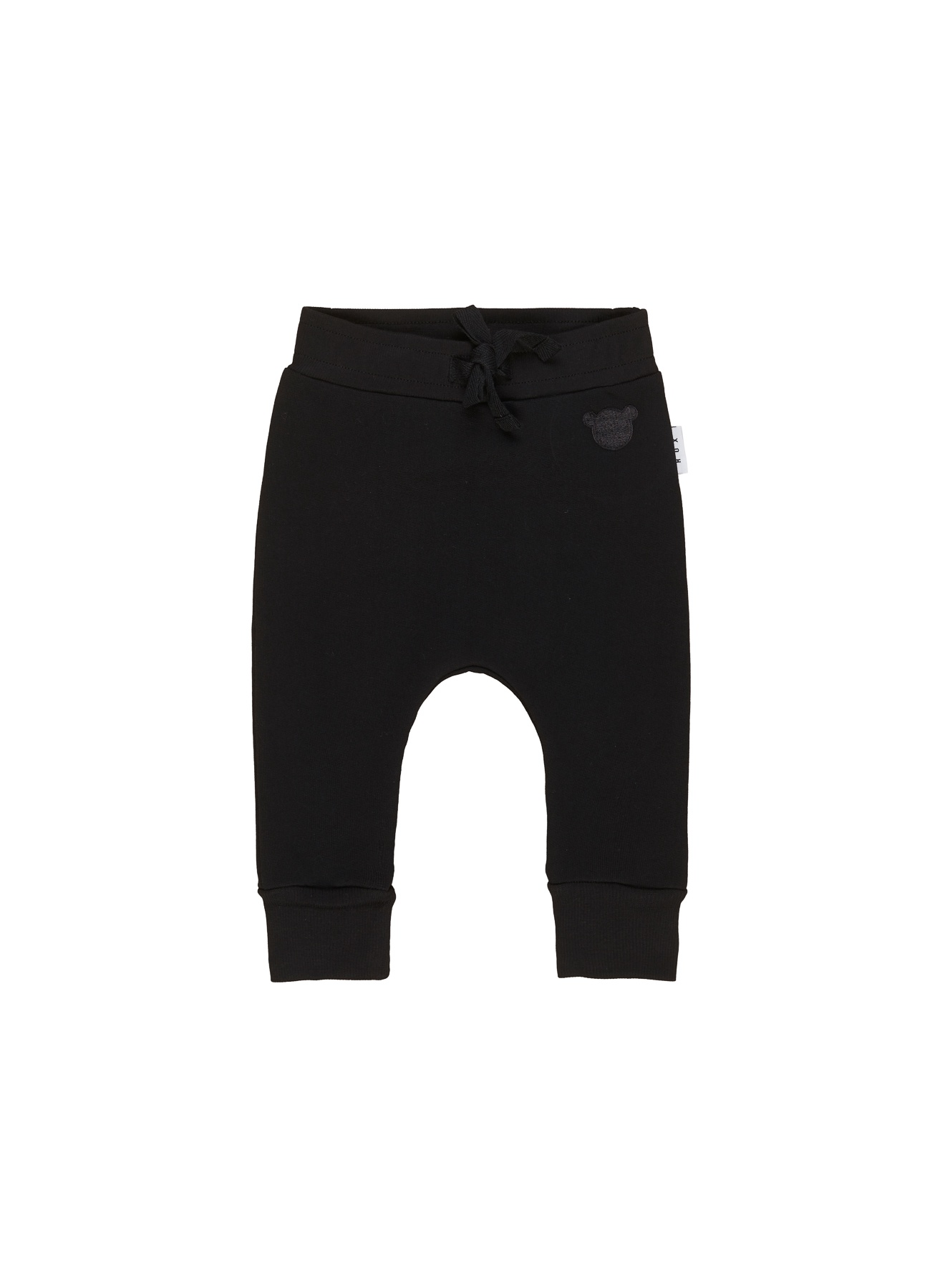 BLACK DROP CROTCH PANT KID