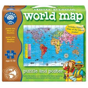 WORLD MAP GIANT PUZZLE
