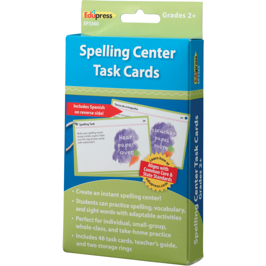 X DC EP 63360 SPELLING CENTER TASK CARDS G2