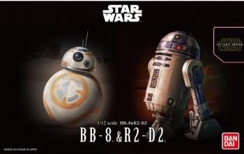 Bandai #0203220 1/12 Star Wars BB-8 & R2-D2