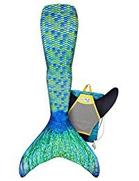 FIN FUN MERMAID TAIL & MONOFIN AUSSIE GREEN 6