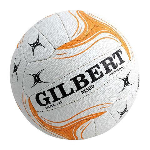 Gilbert State Match Ball (M500): White & Gold (size 5)