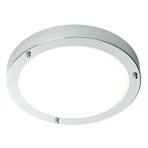 Portico 300mm flush IP44 60W - chrome plate