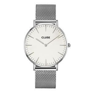 Cluse Watch Cl18105 La Boheme Large Face Silver Mesh