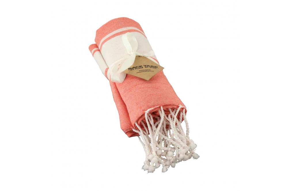Cotton Towel Orange wide band