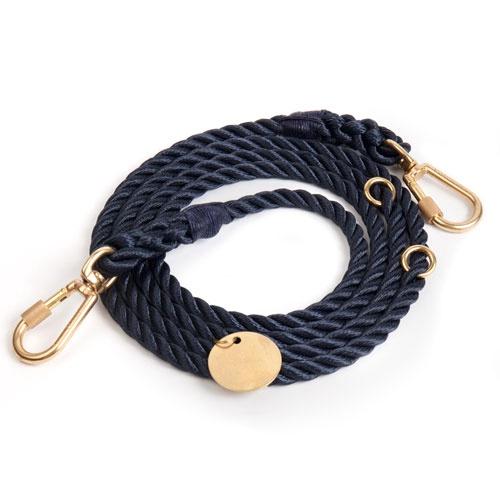 Navy Adjustable Dog Leash | Medium