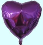 HEART FOIL BALLOON PURPLE