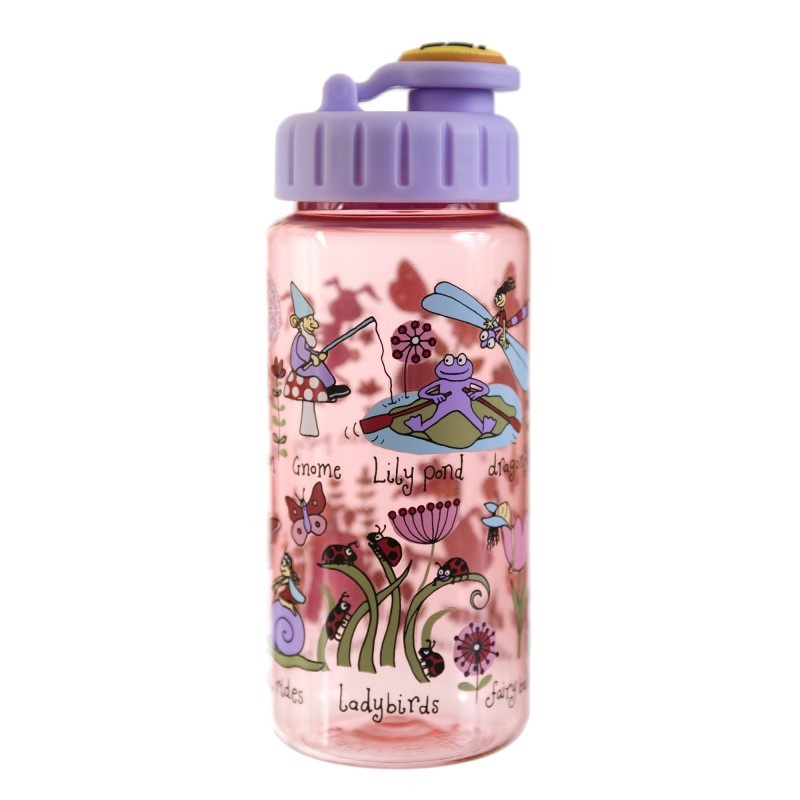 DRINKING BOTTLE WITH STRAW SECRET GARDEN