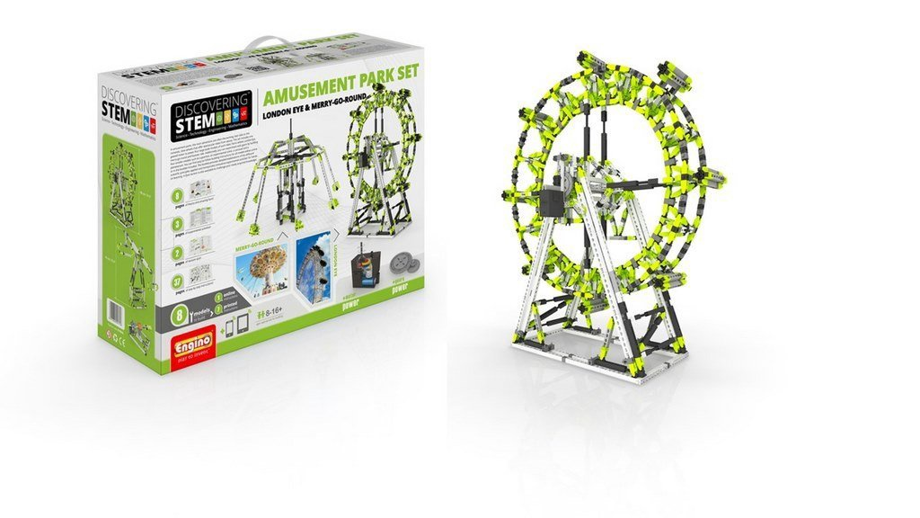 STEM AMUSEMENT PARK SET :LONDON EYE & MERRY-GO-ROUND