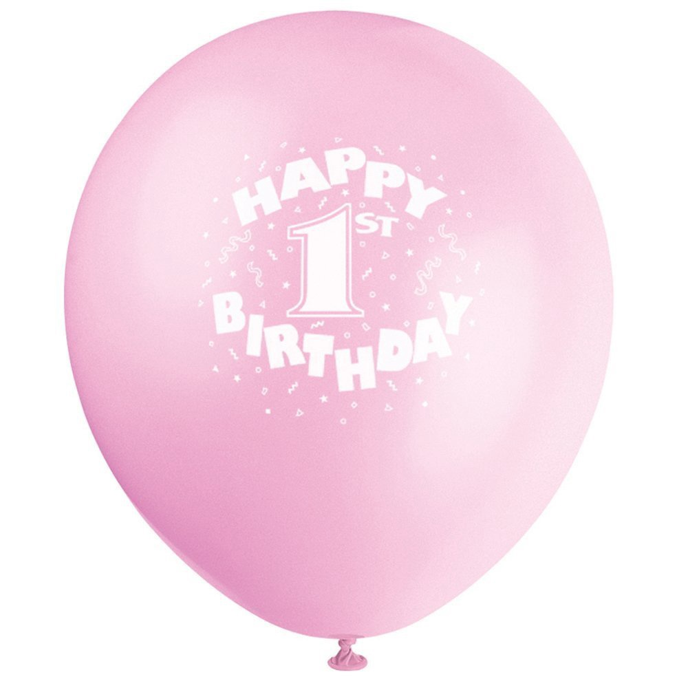 HAPPY 1ST BIRTHDAY BALLOONS