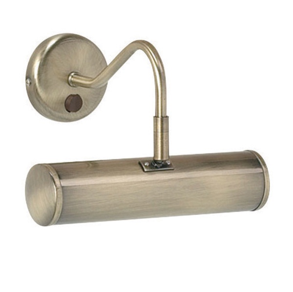 Turner 1lt 230mm wall 6.2W SW warm white - antique brass