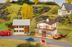 Faller #232522 N Scale Shop and Detached House