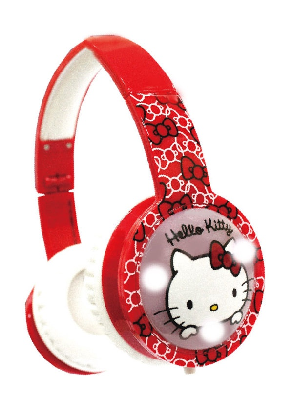 BLINKING KIDS HEADPHONES HELLO KITTY