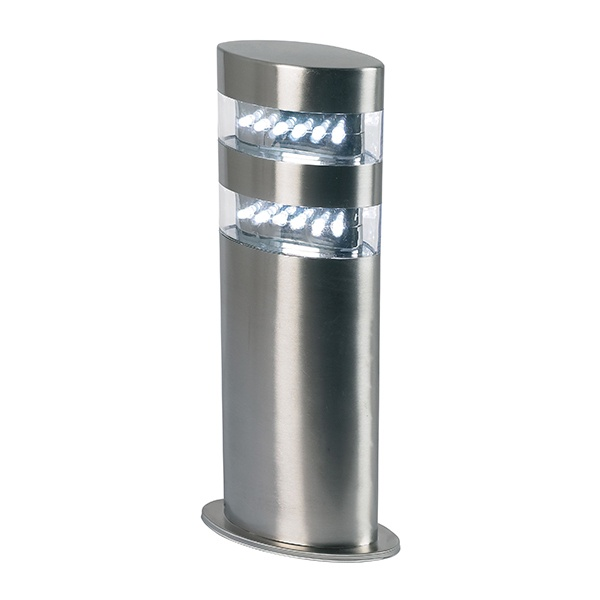 Radian post IP44 1.5W daylight white floor - polished stainless steel