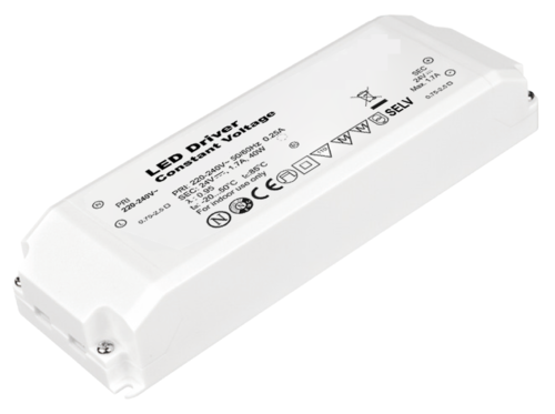 24V DC 40W constant voltage LED driver